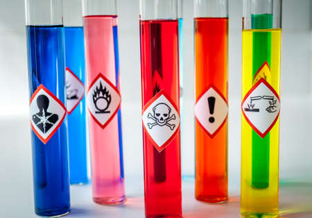 chemical hazard: Chemical Hazard pictograms multicolored