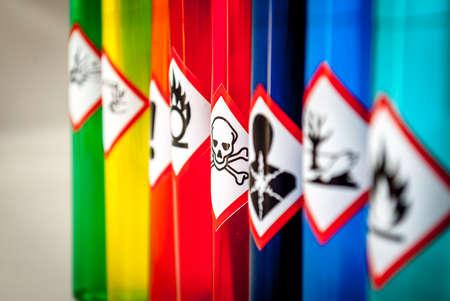 Chemical hazard pictograms Toxic focus Banque d'images