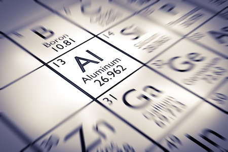neutrons: Focus on Aluminum chemical element from the Mendeleev periodic table