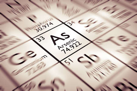 mendeleev: Focus on Arsenic Chemical Element from the Mendeleev periodic table