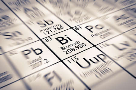 mendeleev: Focus on Bismuth Chemical Element from the Mendeleev Periodic Table