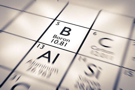 boron: Focus on Boron Chemical Element from the Mendeleev Periodic Table