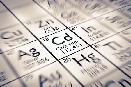 mendeleev: Focus on Cadmium Chemical Element from the Mendeleev Periodic Table