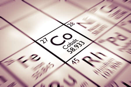mendeleev: Focus on Cobalt chemical element from the Mendeleev periodic table