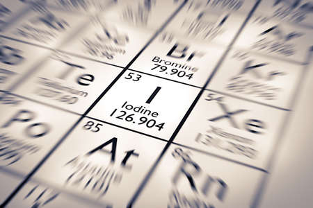 mendeleev: Focus on Iodine Chemical Element from the Mendeleev Periodic Table