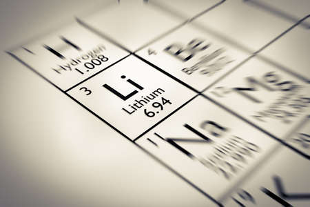 lithium: Focus on Lithium Chemical Element from the Mendeleev periodic table