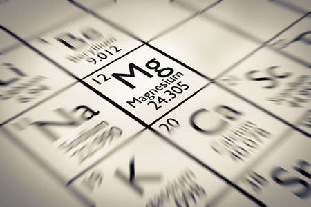 mendeleev: Focus on Magnesium Chemical Element from the Mendeleev periodic table