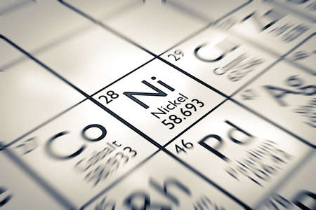 neutrons: Focus on Nickel Chemical Element from the Mendeleev periodic table