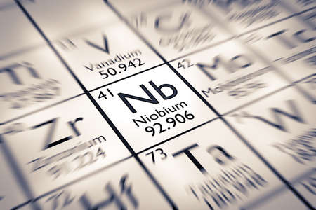 mendeleev: Focus on Niobium Chemical Element from the Mendeleev Periodic Table