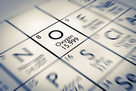 mendeleev: Focus on Oxygen Chemical Element from the Mendeleev periodic table
