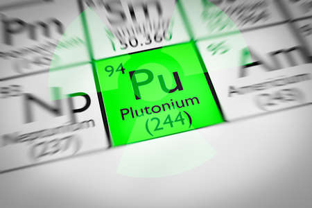 Focus on radioactive green Plutonium Chemical Element