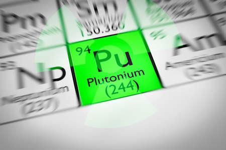 plutonium: Focus on radioactive green Plutonium Chemical Element