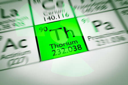 thorium: Focus on radioactive green thorium Stock Photo