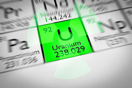 uranium: Focus on radioactive green Uranium Chemical Element