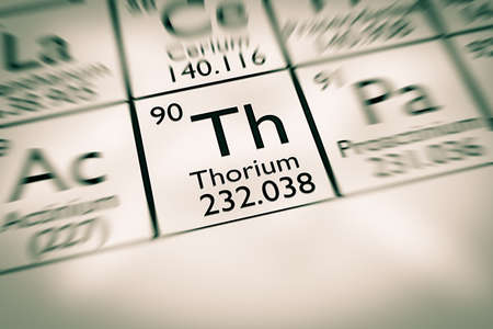 radioactive: Focus on radioactive thorium chemical element