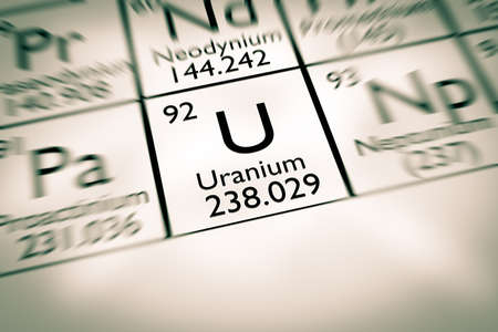 radioactive: Focus on radioactive Uranium chemical element