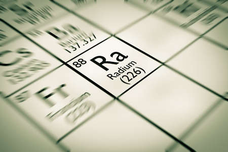 focus on radium chemical element from the mendeleev periodic table photo - Mendeleev Periodic Table Atomic Number
