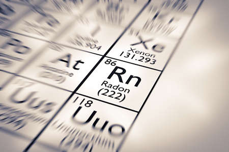 radon: Focus on Radon Chemical Element from the Mendeleev Periodic Table