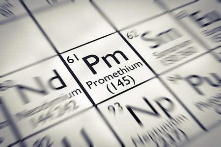 rare: Focus on rare earth Promethium Chemical Element