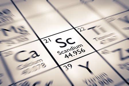 mendeleev: Focus on Scandium Chemical Element from the Mendeleev Periodic Table