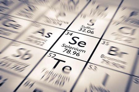 selenium: Focus on Selenium Chemical Element from the Mendeleev Periodic Table