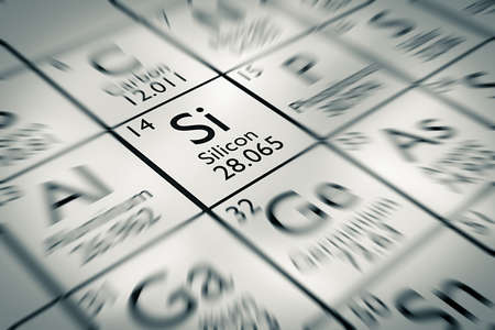 mendeleev: Focus on Silicon Chemical Element from the Mendeleev periodic table