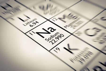mendeleev: Focus on Sodium Chemical Element from the Mendeleev periodic table