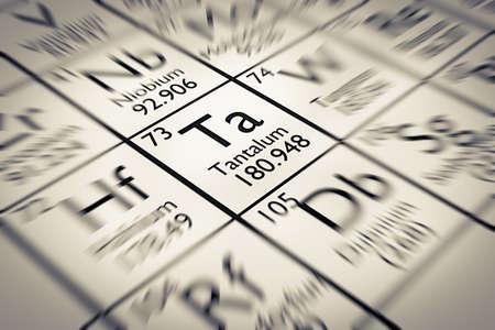 mendeleev: Focus on Tantalum Chemical Element from the Mendeleev periodic table