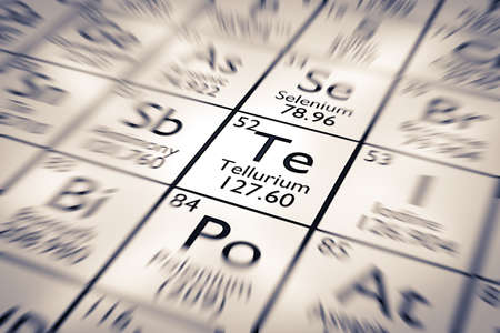 mendeleev: Focus on Tellurium Chemical Element from the Mendeleev Periodic Table
