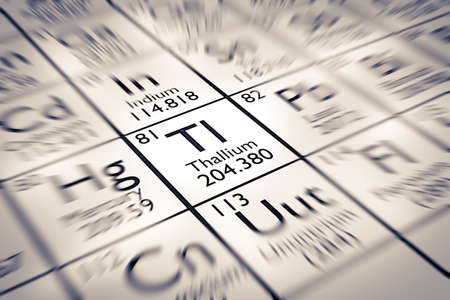 mendeleev: Focus on Thallium Chemical Element from the Mendeleev Periodic Table