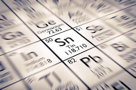 mendeleev: Focus on Tin Chemical Element from the Mendeleev Periodic Table