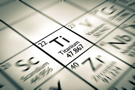 isotopes: Focus on Titanium Chemical Element from the Mendeleev periodic table