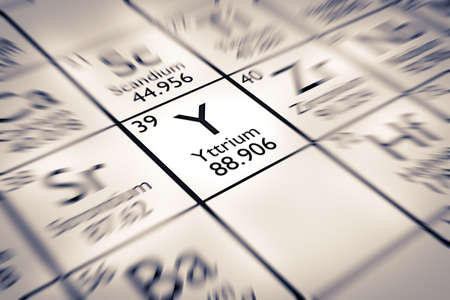 mendeleev: Focus on Yttrium Chemical Element from the Mendeleev Periodic Table
