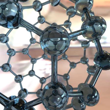 nanotubes: Fullerene on a colored background