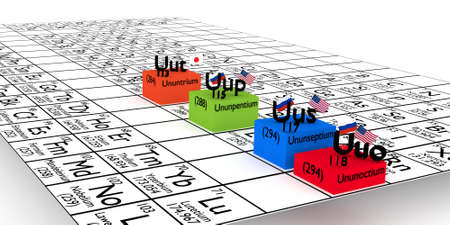 nuclei: Last month, International Union of Pure and Applied Chemistry announced the recognition of 4 ? New Chemical Elements to be added in the Mendeleev periodic table. New Elements ununtrium, ununpentium, Ununseptium and ununoctium Were artificially created usi
