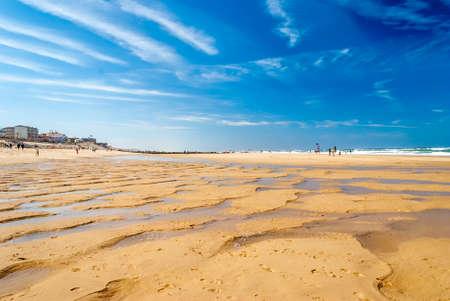 world sport event: Wonderful beach with sand relief in surf beach