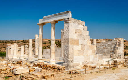 architecture monumental: Demeter temple in Naxos, Greece Stock Photo