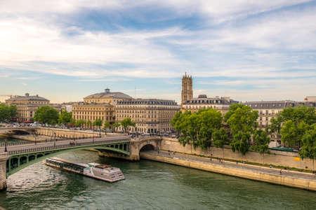 Theatre du Chatelet in Paris with a view on Tour St Jacques