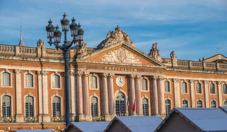 Town Hall of Toulouse in winter, Capitole place