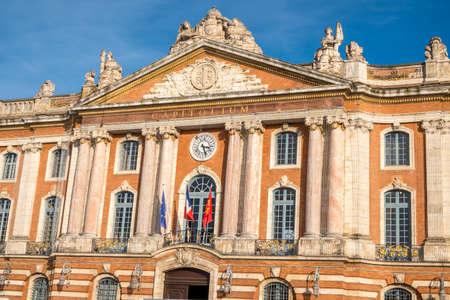 Town Hall of Toulouse on a sunny day, Capitole place