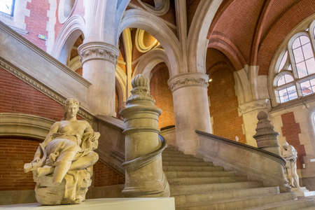 Augustins Cloister Museum, magistral stairs in Toulouse France