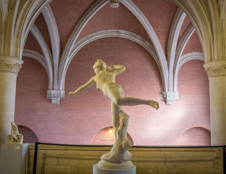 Augustins Cloister Museum, magistral statue in Toulouse France