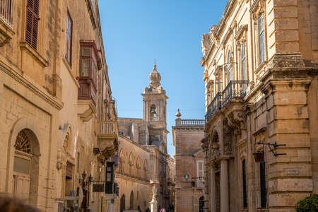 Main Street of Mdina, Malta, Europe, mediterranean Reklamní fotografie
