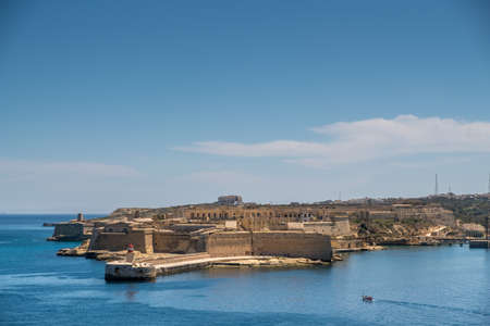 Panorama of the Fort Ricazoli of La Vittoriosa in Malta