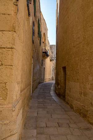 Small Street of Mdina, Malta, Europe, mediterranean