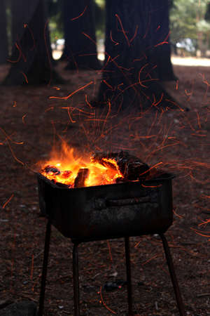 charcoal fire Stock Photo - 18456316
