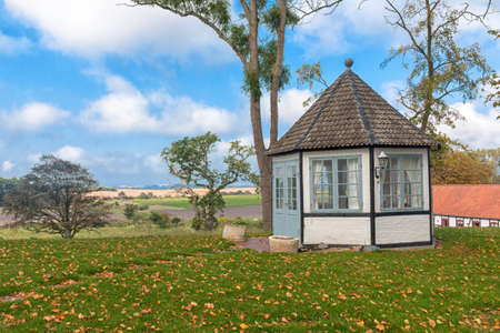 braslav: Danish landscape  with a pavilion Stock Photo