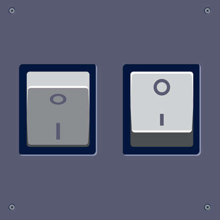 clean off: On Off switch. Web, interface vector animated buttons.