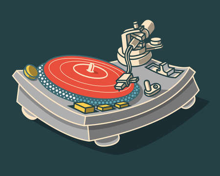 Turntable Illustration.  Vector Graphic. Illustration