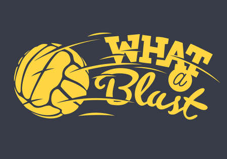 What A Blast Tee Print Lettering Design With Old Fashioned Socce